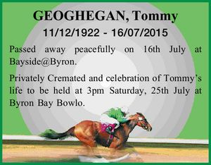 GEOGHEGAN, Tommy