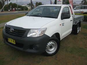 2013 Toyota Hilux TGN16R MY14 Workmate White 5 Speed Manual