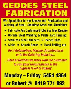 We Specialise in the Sheetmetal Fabrication and Welding of Steel, Stainless Steel and Aluminium