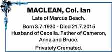 MACLEAN, Col. Ian