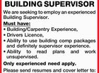 BUILDING SUPERVISOR