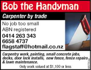 Carpenter by trade