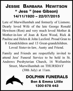 14/11/1920 – 22/07/2015
