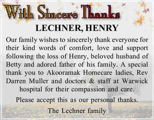 LECHNER, HENRY