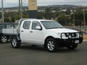 2013 Nissan Navara D40 MY12 ST (4x4) White 5 Speed Automatic Dual Cab Pick-up