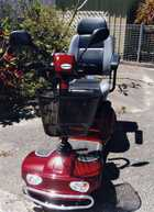 1 Near New Merits Mobility Scooter.   4 wheel, rear wheel drive, designed for indoor & outdoor use.   115kg load capacity.   Adjustable seat, Simple operation.   Removable front basket   Cost $3,500 Sell $1,600.   Ph 0755246446 / 0412853201