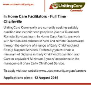 In Home Care Facilitators - Full Time Charleville 