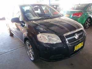 2007 Holden Barina TK MY07 Black 5 Speed Manual Sedan