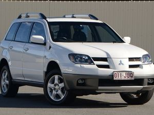 2003 Mitsubishi Outlander ZE XLS White 4 Speed Auto Seq Sportshift Wagon