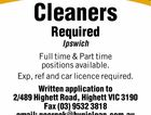 Cleaners Required - Ipswich