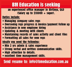 BM Education is seeking: