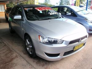 2007 Mitsubishi Lancer CJ ES Silver 5 Speed Manual Sedan