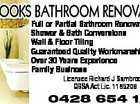 Full or Partial Bathroom Renovations Shower & Bath Conversions Wall & Floor Tiling Guaranteed Quality Workmanship Over 30 Years Experience Family Business Licensee Richard J Sambrooks QBSA Act Lic. 1165208 0428 654 126 3049480aaH SAMBROOKS BATHROOM RENOVATIONS