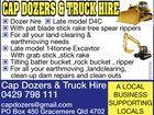 CAP DOZERS & TRUCK HIRE
