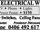 ALL ELECTRICAL WORK