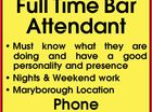 Full Time Bar Attendant