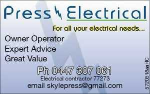 For all your electrical needs Domestic & Commercial