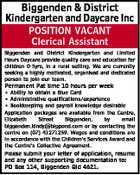 Biggenden & District Kindergarten and Daycare Inc POSITION VACANT Clerical Assistant Biggenden and District Kindergarten and Limited Hours Daycare provide quality care and education for children 0-5yrs, in a rural setting. We are currently seeking a highly motivated, organised and dedicated person to join our team. Permanent Pat time 10 hours ...