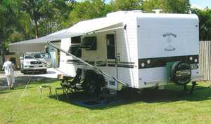BILLABONG     October 2013  20' van  shower toilet  washing machine, queen size bed, TV, microwave  a/c  HWS, 2 water tanks  only done 7800 kms  always in shed  van is as new  registered   $48,000 ono   Phone (07) 4123 3778 or 0408 988 885