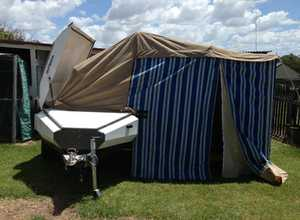 SMALL CAMPERVAN    2 X 30L water tanks  easy tow,  battery pack  reg 12/15   $2800 ono   Phone 0431 268 261