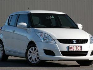 2013 Suzuki Swift FZ GL White 5 Speed Manual Hatchback