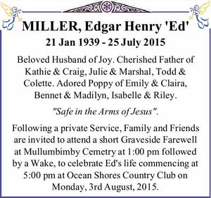 MILLER, Edgar Henry 'Ed' 21