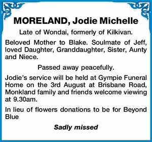 MORELAND, Jodie Michelle