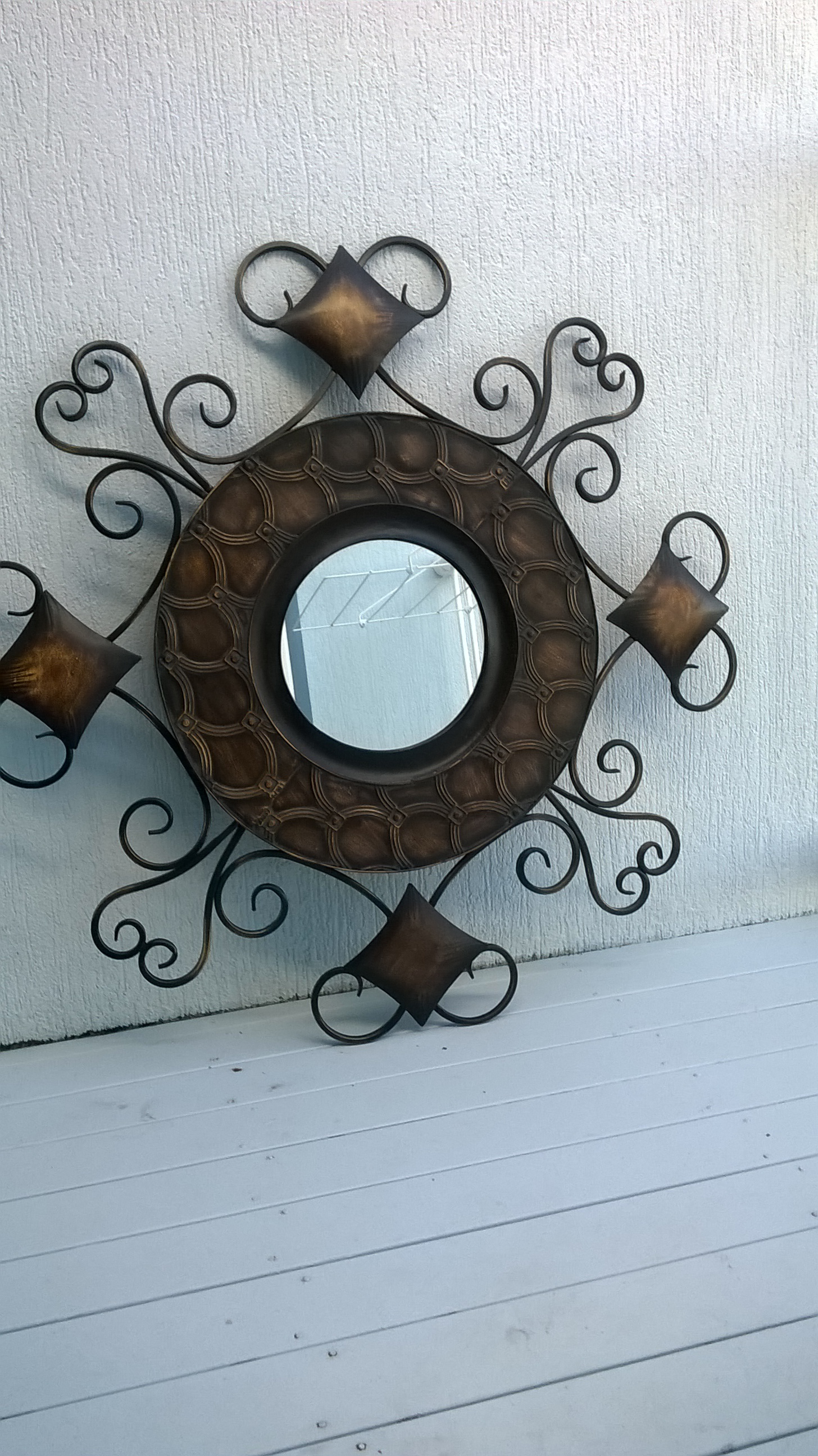 Ornate Copper & Wrought Iron. (cost $75.)
