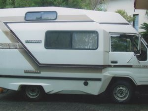 SAFARI Campervan, on owner from new; hightop fibreglass body on Toyota Dyna 100; 5-sp diesel