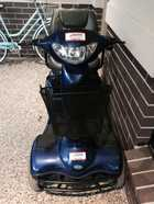 As new Infacare Meteor - top of the range - 2 Brand new batteries only charged once. Slight Scratch on front Right Front lights and rear lights, and indicators Basket on front Hardly used just  purchased but now to going into Nursing Home price negotiable Must Sell