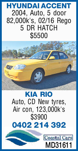 HYUNDAI ACCENT - 2004, Auto, 5 door 82,000k's, 02/16 Rego 5 DR HATCH $5500