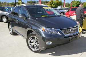 Lexus Hybrid SUV!!  Our beautiful 2010 RX450H MY2011, has been very well cared for and looks great in Grey with Tinted Windows and Factory Alloy Wheels.  This vehicle comes well equipped with Black Leather interior, SAT NAV, Adaptive Cruise Control, Electric Sunroof, 2nd row Headrest DVD's and a Power ...