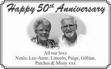 All our love Neale, Lee-Anne,   Lincoln, Paige, Gillian, Patches & Missy xxx
