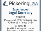 Experienced Legal Secretary