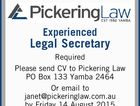 Experienced Legal Secretary