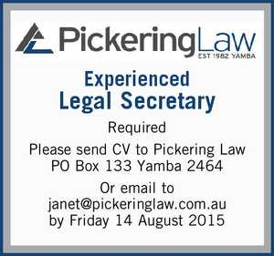 Experienced Legal Secretary Required