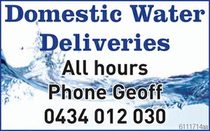 All hours Phone Geoff 0434 012 030