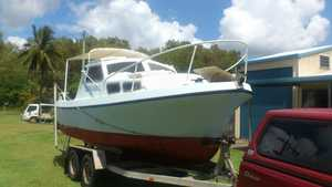 Roberts Longboat ( Tangaroa ) 21ft,   Auto pilot, anchor winch, 23hp diesel, all electrics.   $20,000 ono   Seaforth.   Phone 0434 418 117