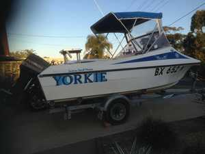 70HP Evinrude all safety gear, Garmin sounder, $7000 gd cond Contact