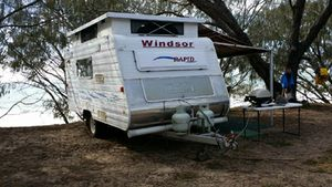 14ft, go anywhere  compact/ roomy/ light weight  Off road,  Ind susp  New tyres  Microwave  3way fridge  Lots of extras  exc cond int & ext  $21,000 ONO  Ph: 0412715826