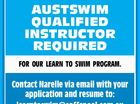 AUSTSWIM QUALIFIED INSTRUCTOR REQUIRED