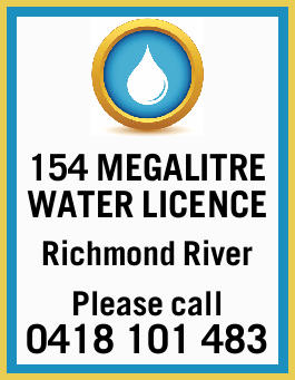154 MEGALITRE WATER LICENCE