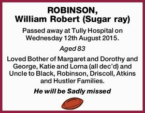 ROBINSON, William Robert (Sugar ray)