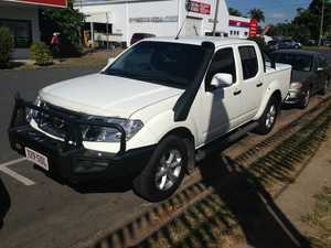 2012 Nissan Navara D40 S6 MY12 ST White 6 Speed Manual Dual Cab