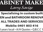 Cabinet Maker Larry Savige