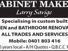 Cabinet Maker Larry Savige