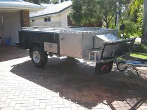 """Built February 2015  Rego expires 24/3/16  Full offroad  Hard floor  Rear fold  Independant suspension  Fully enclosed annex  Stainless steel kitchen  10"""" electric brakes  $13,000  Ph 41253285"""