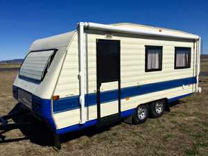 18 x 8ft,  r/out awning,  full annex,  3 way fridge,  gas oven,  tv,  dvd,  s/beds,  4 berth,  $15,600  immaculate  PhoneDan