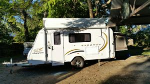 2010 model, 14.44.3, Exc cond, inc shower/ toilet, TV/DVD, A/C, Gas/ elect cooktop w/ grill & oven, 3 way fridge & hot water, 2x 9kg gas bottle, r/o awning & 2 privacy screens, 2x 85L water tanks, new tyres & Full service.   $29,500   Ph: 0417475404