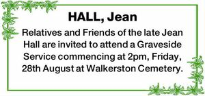 HALL, Jean